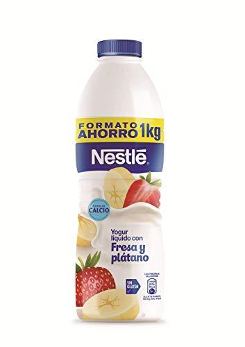 Nestlé Yogur Líquido, Fresa y Plátano, 1kg