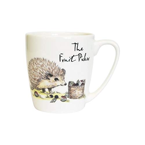 Churchill Country Pursuits Mug Animal - Vintage Stampato Hedgehog Tea Coffee Cup - 300ml - The Fruit Picker