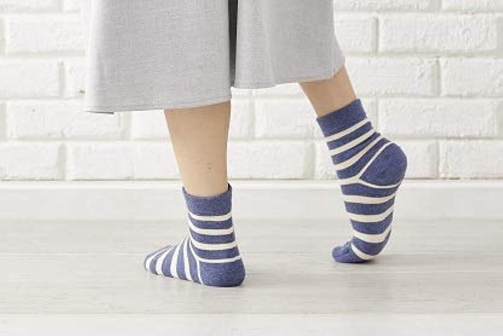 ヒステリック価値充電かかと 角質ケア ひび割れ対策 かかとツルツル靴下 人気ボーダー2色組 23-25cm 太陽ニット 716