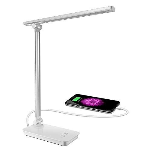 SunTop Lámpara Escritorio,Lámpara LED de mesa,5W Regulable Cuidado a Ojos, 3 Niveles...