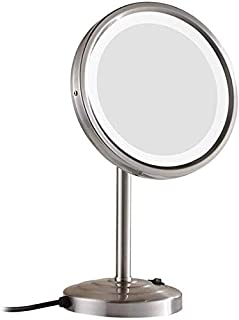 BMJ&C Vanity Makeup Mirror with Led Lights Table Countertop for Grils Women Men Cosmetic (Color : 3, Size : 8.5 inch/3X)