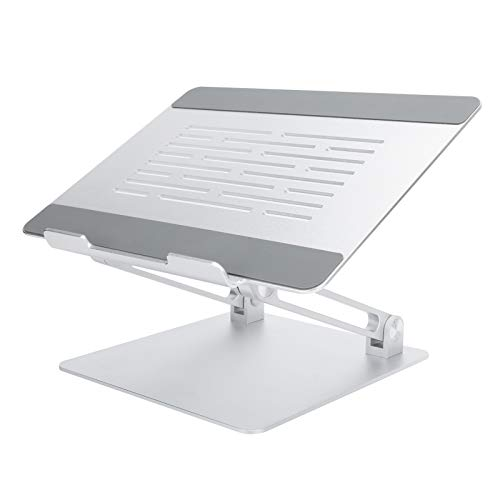 Soporte ergonómico de Aluminio para Ordenador portátil, Soporte para Ordenador portátil, Estante de refrigeración para Ordenador, Soporte Ajustable para portátil de liberación(Plata)