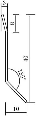 40 mm FUCHS Sockelleiste Edelstahl V2A Geb/ürstet 50 METER H/öhe