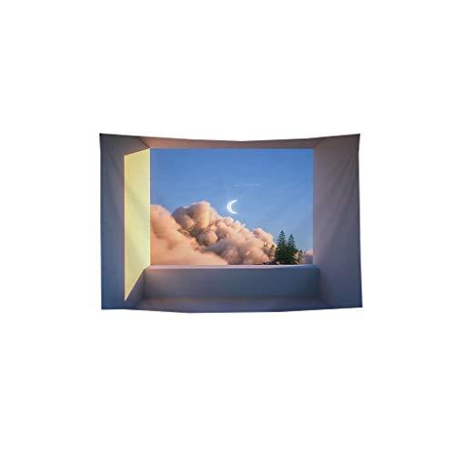 Familia Paisaje Habitación Sala Fondo de Tela paño Colgante de la decoración de la tapicería del sofá decoración Fondo clo Cuadros Decorativos (Color : K, Size : 100cm*75cm)