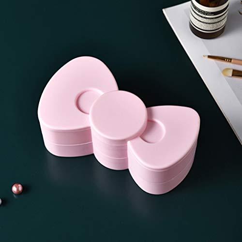 JYDQM Caja de almacenamiento de accesorios para el cabello rosa Accesorios para niña Estudiante Escritorio multicapa giratoria Joyero