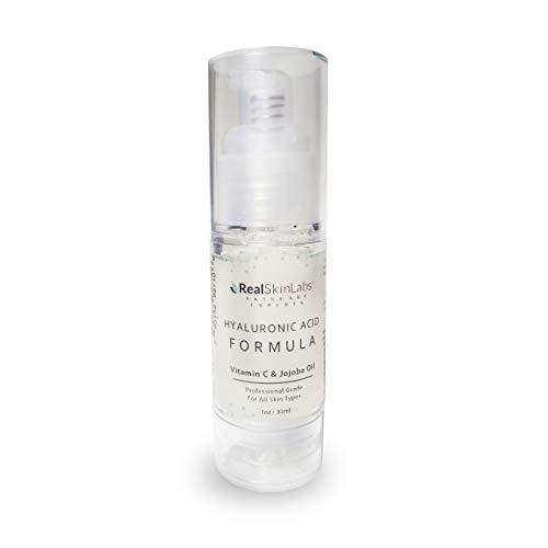 Hyaluronic Acid Formula de Real Skin Labs, Tratamiento Antiedad con Ácido Hialurónico, Vitamina C y Aceite de Jojoba, Hidrata, Tonifica y Revitaliza la Piel. Ideal para todo tipo de piel, 30 ml