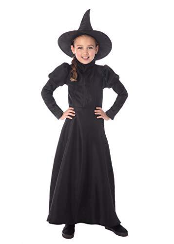 Bristol Novelty CF225XL Wickedest Witch - Disfraz de bruja para niños, talla extra grande, para niñas, color negro, de 9 a 10 años