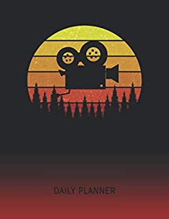 Daily Planner: Cameraman Video Camera | 2020 - 2021 Daily Planner For 1 Year Of Planning | Retro Vintage Sunset Cover | January 20 - December 20 | Organizer Writing Notebook | Productive Datebook Calendar Schedule | Plan Days, Set Goals & Get Stuff Done