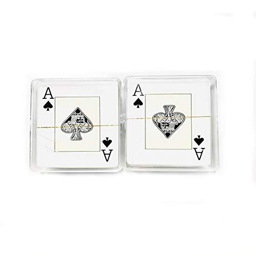 Pack de 2 Unidades Baraja de Póker + Baraja de Póker con Funda de Plástico Baraja de Póker 100% Producto español Juegos de Cartas Ideal para Jugar en Familia y Amigos. Ideal para Jugar 51