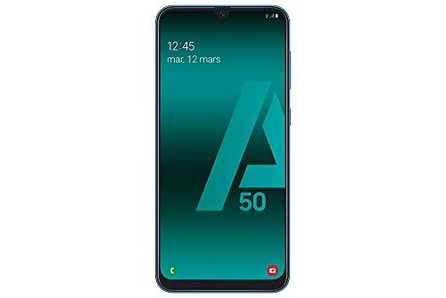 SAMSUNG Galaxy A50 - Smartphone Portable débloqué 4G (Ecran: 6,4 Pouces - 128 Go - Double Nano-SIM - Android) -Bleu - Version Européenne
