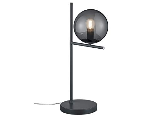 Design LED-verlichtingserie in antraciet met bol lampenkappen rookglas - exclusieve binnenverlichting