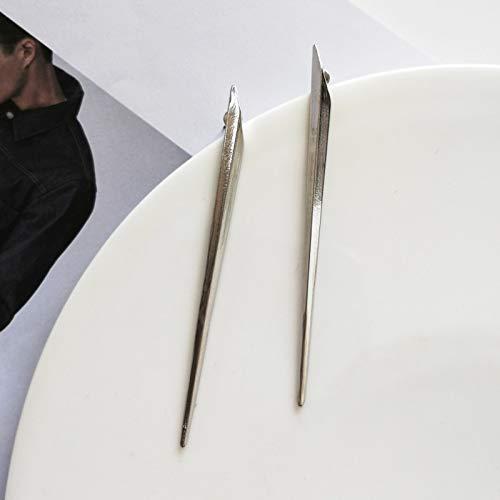 FEARRIN Pendientes de Moda Breve diseño Simple Personalidad Única aleación de ZincPendiente deOropara Mujer Joyería Rhodiumstud