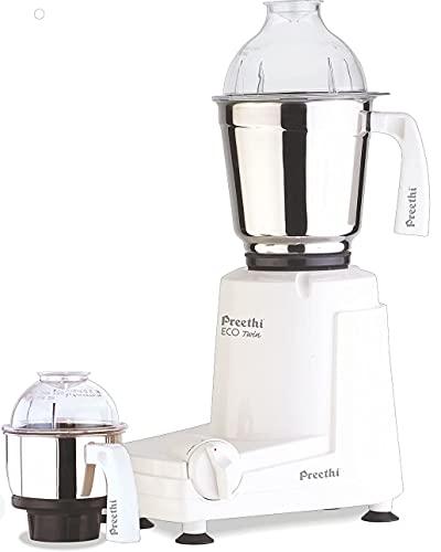 Preethi Eco Twin Mixer Grinder, 110 Volt, White, 2 Jar (MGA-516)
