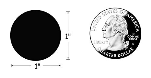 SMARSTICKER 1 Inch Round Blank Black Shooting Target Pasters 1,000 Adhesive Target Dots Photo #2