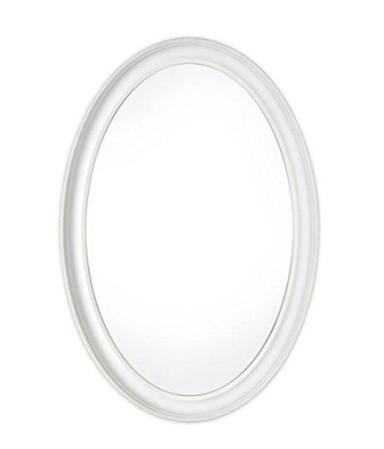 Innova Editions Mist gratis spiegel ovaal - wit (54 x 79 cm)