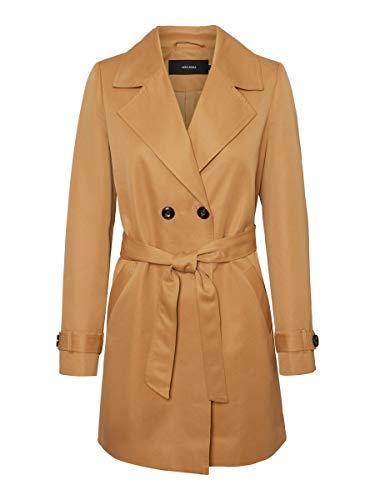 Vero Moda Damen VMBERTA 3/4 Jacket COL Trenchcoat, Braun, XS