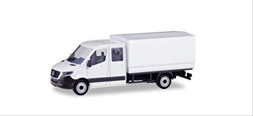 Herpa Miniaturmodelle 013499 Minikit: Mercedes-Benz Sprinter Neue Doppelkabine mit Pritsche in Miniatur, Weiß