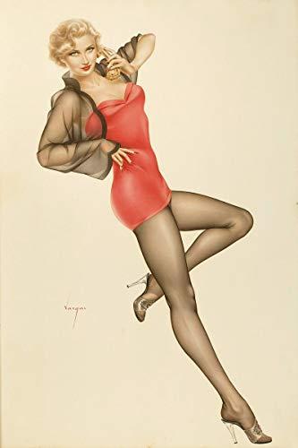 Berkin Arts Alberto Vargas Giclée Leinwand Prints Gemälde Poster Reproduktion(Pin Up Girls 8)