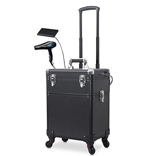 Kosmetiktasche Trolley Mit Großer Kapazität Und Tragbarem LED-Upgrade-Werkzeugkoffer Aus Aluminiumlegierung Mit Lichtspiegel