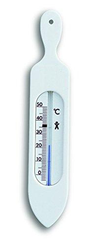 TFA Termómetro de baño Blanco plástico