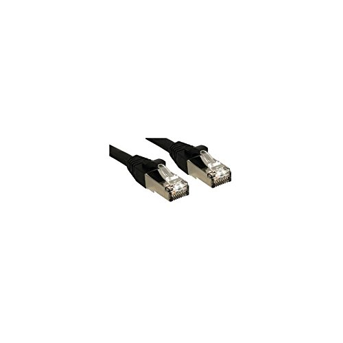 Lindy Premium - Patch-Kabel - RJ-45 (M) - RJ-45 (M) - 1,0m - SFTP - CAT 6 - glatt, halogenfrei - Schwarz (45602)