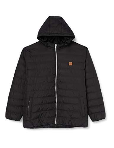 Urban Classics Herren Basic Bubble Jacket Jacke mit Kapuze, Schwarz (blkblkblk),5XL