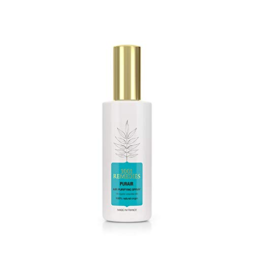 1001 Remedies Room Spray Air Freshener - 100% Natural Award Winning Purifying Air Spray, Fresh Pillow Mist with Lavender & Eucalyptus – for Bathrooms, Linen Sheets, Made in France