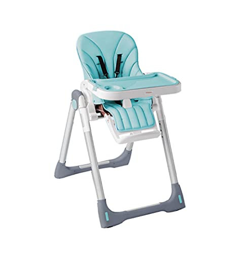 WALLHANG Baby High Chair Adjustable Space Saver, Safety Portable Dining Chairs Recliner, with Removable Tray, Kids Table, Toddler Booster Chair(Blau)