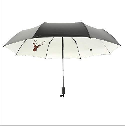 AZZ Draagbare Automatische Creatieve Winddichte Paraplu, Automatische golf paraplu - zeer stevige dubbele luifel winddicht waterdicht grote paraplu regen en winddichte zonnebrandcrème, B