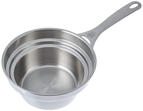 Le Creuset Stainless Steel Double Boiler Insert For 2 And 3 quart Saucepans, 2.2 qt.
