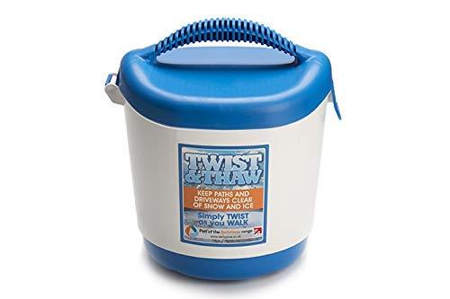 MPL Gardening MPLl50072/W/P Twist and Thaw Salz-/Splitt-Streuer für Eis und Schnee,Weiß und Blau