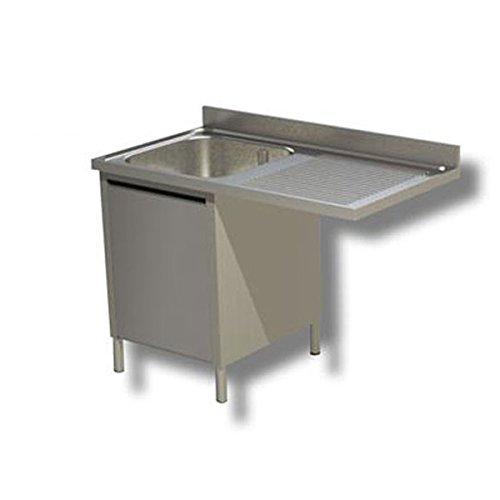 Lavoir inoxydable armadiato 1 cuve + égouttoir DX/SX pour lave-vaisselle Dim.CM 120 x 60 x 85h