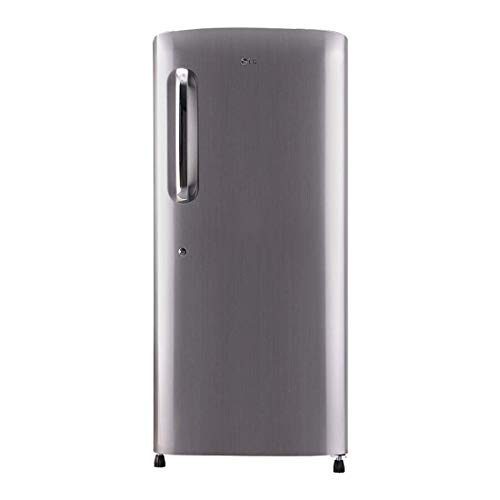 LG 215 L 4 Star Inverter Direct Cool Single Door Refrigerator (GL-B221APZY, Shiny Steel)