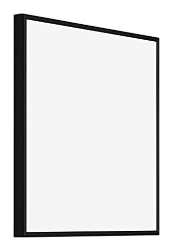 yd. - 40x40 cm - Bilderrahmen von Aluminium mit Sicherheitsglas - Ausgezeichneter Qualität - Schwarz Matt - UV-beständige Glasplatte - Antireflex - Fotorahmen -New York.