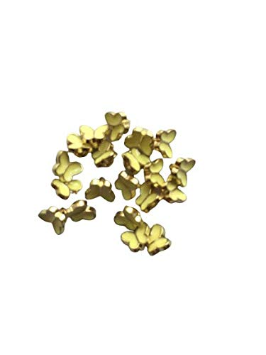 黄色 蝶ボタン 70個 ちょうちょ チョウ 約6mm×5mm 極小 小さめ ハンドメイド材料 デコ材料 ドール用 人形用 ミニチュア