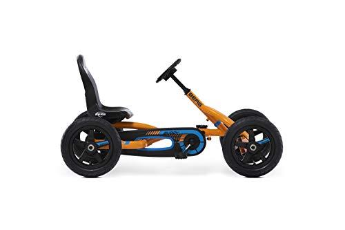 BERG Karting Buddy B-Orange | Kart con Pedales, Go-Kart, Asiento Ajustable, Ruedas hinchables, Kart con Pedales para niños, Bicicleta y vehículo para niños de 3 a 8 años