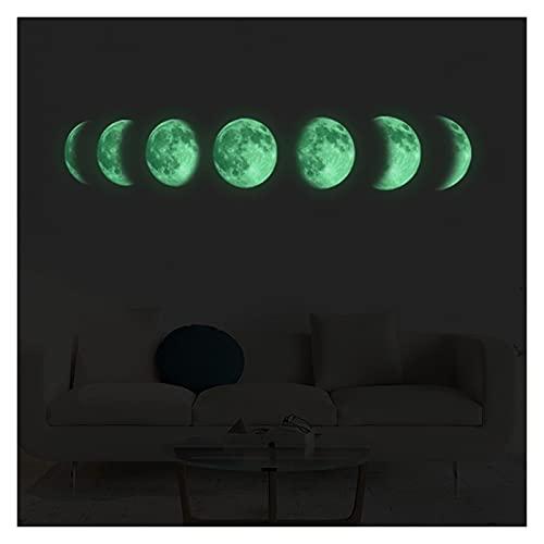 CHUNMA Luna Luna Fase 3D Etiqueta de la Pared Sala de Estar Decoración de la Pared Fondo de la decoración del Arte de la decoración de la decoración del Fondo en Las Etiquetas engomadas oscuras