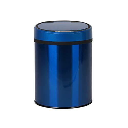 YBCD Triturador de Basura Redondo de Acero Inoxidable de Doble Barril Basurero infrarrojo sin Contacto dinámico/antiincrustante antihuellas, Cocina de inducción automática/Dormitorio
