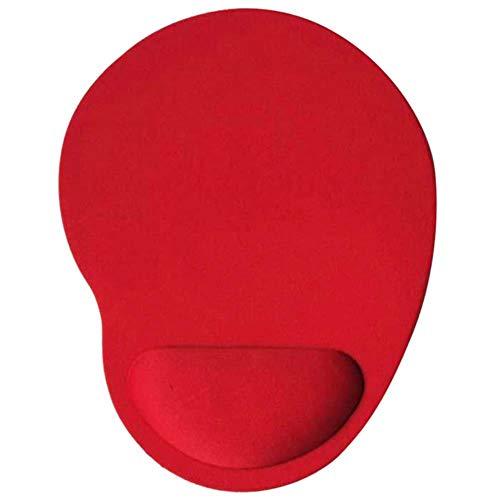 Muismat, Gaming-muismat met polssteun Gel Mousepad Polssteun Ergonomisch polskussen Computermuismat Bureau, rood