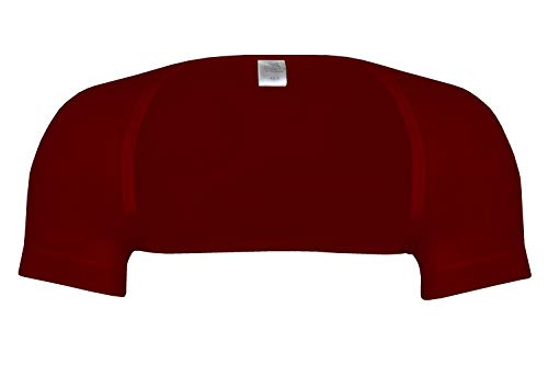 wobera Angora Schulterwärmer mit ½ Arm aus Angora und Baumwolle (Gr. L, Farbe: Bordeaux)