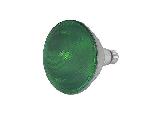 showking - LED Lampe PAR-38 230V / 15W, Sockel E-27, grün - grünes LED Leuchtmittel E27