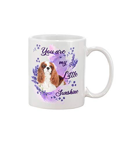 Cavalier King Charles Spaniel Lavender Sunshine A Dog Mug For Coffee, Soup, Tea, Milk, Latte.Cups Mug Perfect For Friends, Fans, Wife, Husband, Dad, Mom. Mugs 11Oz 15Oz White And Black.