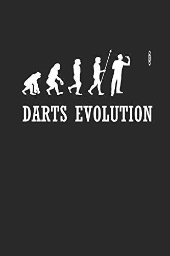 DARTS EVOLUTION: NOTIZBUCH Dart Journal Darts Notebook 6x9 kariert squared