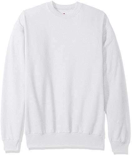 Hanes ComfortBlend EcoSmart Crew Sweatshirt_White_4XL