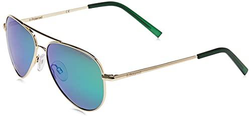 Polaroid PLD 8015/N K7 J5G Gafas de Sol, Dorado (Gold/Green Grey Speckled Pz), 52 Unisex Niños