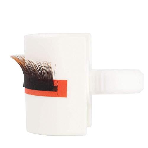 Faux Cils Greffage de faux cils extension bague de colle coupe outil de maquillage porte-palette cils en forme de U (blanc)