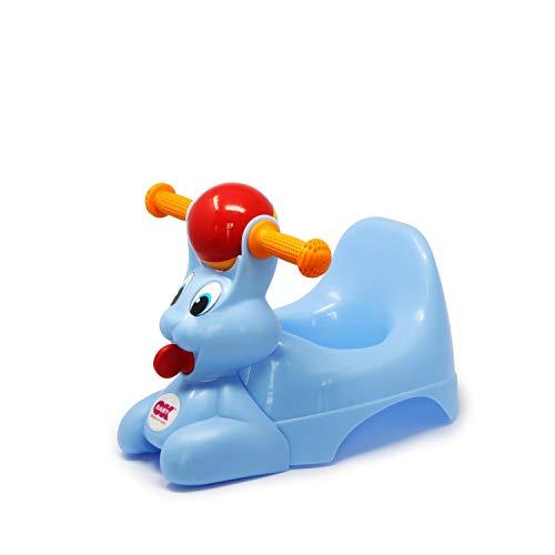 OKBABY Spidy - Vasino per Bambini con Seduta Ergonomica, a Forma di Coniglio - Azzurro