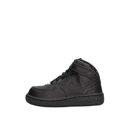 Nike Kids's NIKE FORCE 1 MID (TD) INFANT SHOES 5 (BLACK/BLACK)