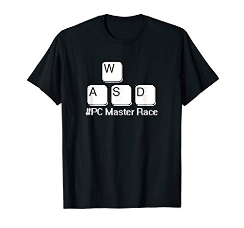 WASD PC Master Race Keys #PCMasterRace funny Gaming PC Gamer T-Shirt