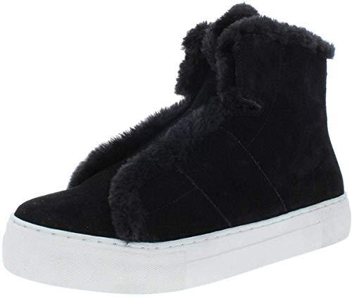 DKNY Frauen Mason-High Top SNE Leder Fashion Sneaker Schwarz Groesse 10 US /41.5 EU
